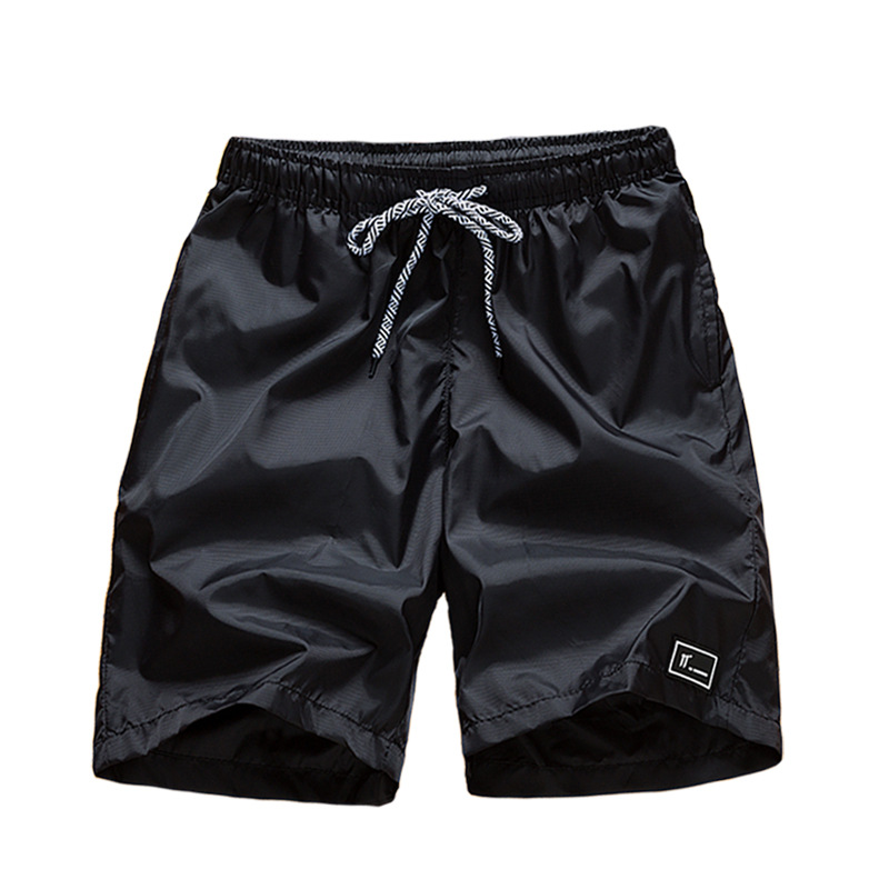 Fashion Summer Black Gray Outdoor Shorts Trend Leisure Loose Drawstring Men Knee Length Shorts Size M-4XL