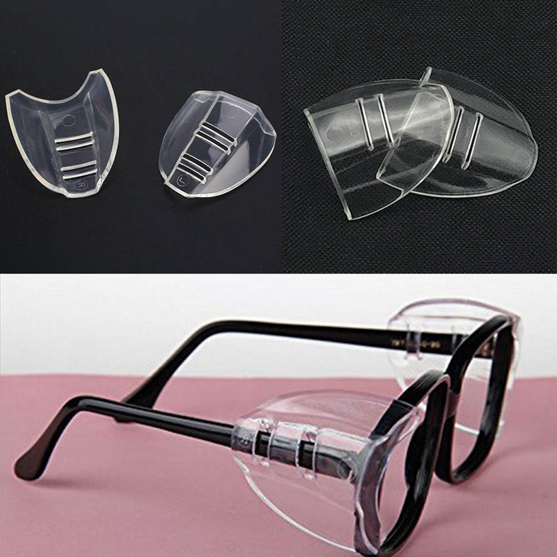 2pairs Protective Covers For Glasses SideShields For Myopic Glasses Safety Flap Side Protective Sheet Anti-sand Splash