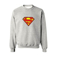 Superman Logo Capless Harajuku Winter Hoodies Men Fashion Gray Hoodies And Sweatshirts For Couples 4XL Casual Spider-man Clothes