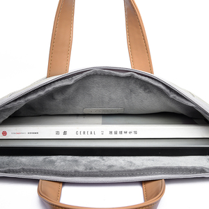 Image 5 - עמיד למים עור מפוצל מחשב נייד תיק מקרה מזדמן נייד תיק לנשים 13 13.3 14 15 15.6 אינץ עבור macbook Pro מקרה עבור גברים 2021