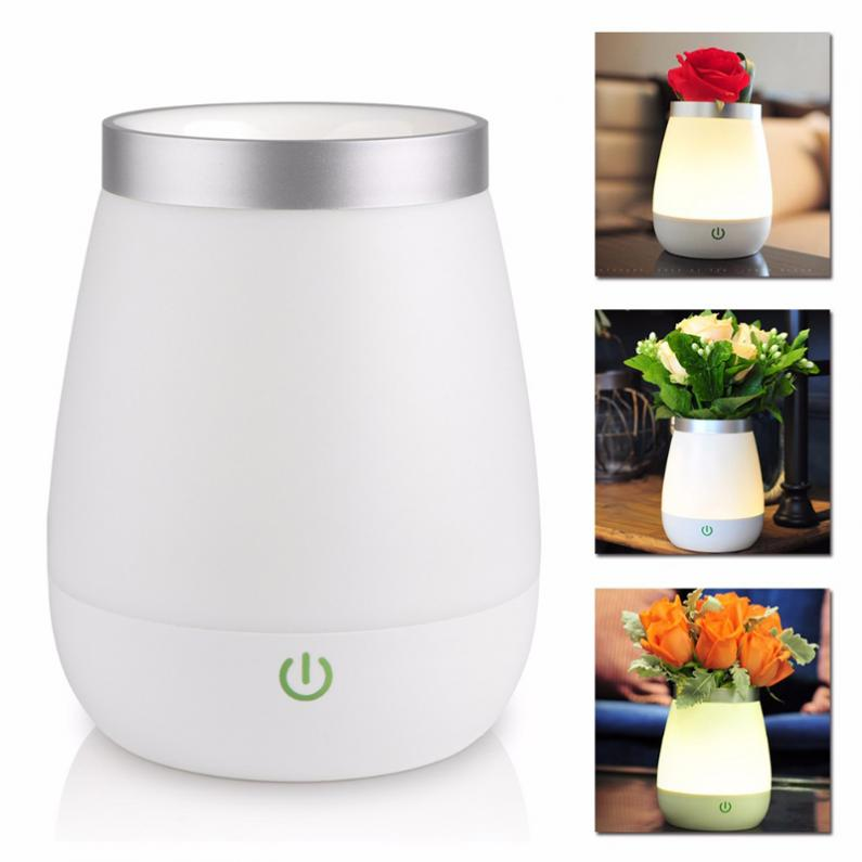 2017 Rechargeable LED Vase Lamp 3 Modes Warm White Night Light Touch Control Bed Desk Lamp