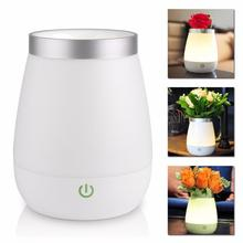 2017 Rechargeable LED Vase Lamp 3 Modes Warm White Night Light Touch Control Bed Desk Lamp For Bedroom Living Room Decoration