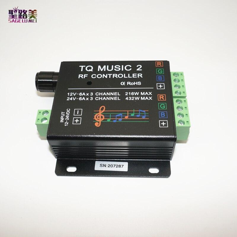 DC12-24V 18A RF Remote RGB led strip Music 2 Controller Խելացի - Լուսավորության պարագաներ - Լուսանկար 4