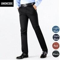 Dos homens de alta Qualidade Calças de Sarja Estilos Básicos Estiramento Preto Clássico Skinny Slim Fit Chinos Calça Casual 4 Cores Tamanho 28-38