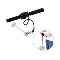 Wrist and Forearm Blaster Power Stick for Strength trainning used with weight plates for Training Workout Crossfit