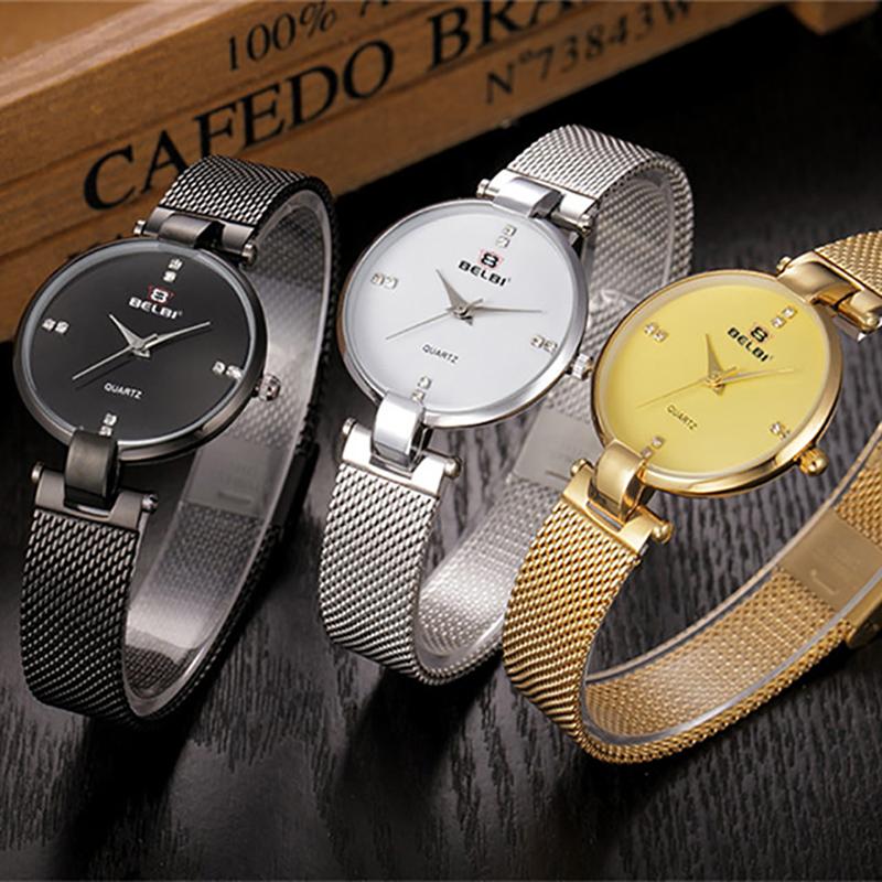 Prix pour Lady Or Argent Bracelet Montres Femmes Célèbre Marque Horloge Femme Relogio Feminino Montre-Bracelet Mode Hodinky Casual Ceasuri 47