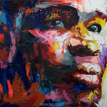 Palette knife painting portrait Palette knife Face Oil painting Impasto figure on canvas Hand painted Francoise Nielly 14-61 цена и фото