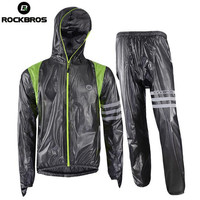ROCKBROS Men Women Cycling Clothing Road Bike Mountain Bike Rain Jacket Rain Set Breathable Waterproof Cycling
