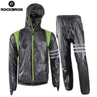 ROCKBROS Men Women Cycling Clothing Road Bike Mountain Bike Rain Jacket Rain Set Breathable Waterproof Cycling