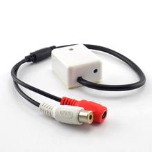 Микрофон Звуковой сигнал Аудио Звук охранного наблюдения DC 9 V-12 V RCA переходник с внутренней резьбой для видеонаблюдения Камера безопасности Системы