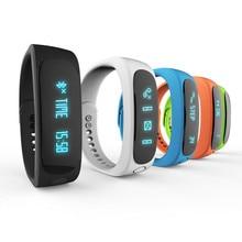 Hot Sale E02 Smartband Health Fitness Tracker Sport Bracelet Waterproof Wristband for IOS Android Smart watch Band Bluetooth 4.0