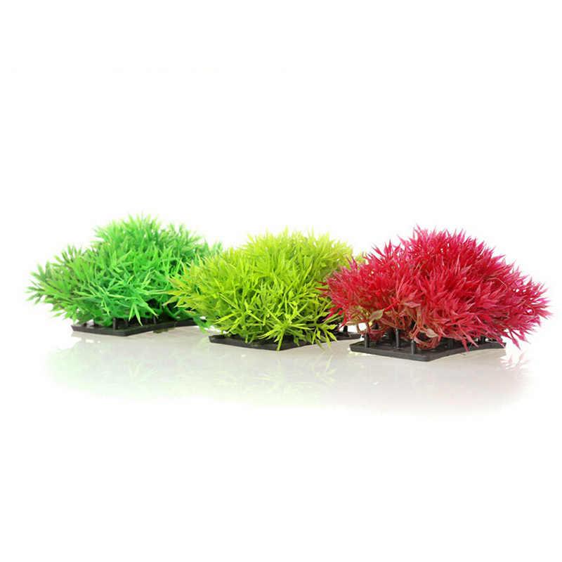 البلاستيك الاصطناعي المياه الأعشاب زخرفة النبات حوض للأسماك الزينة والحلي العشب الاصطناعي حوض السمك ديكور المشهد Acc