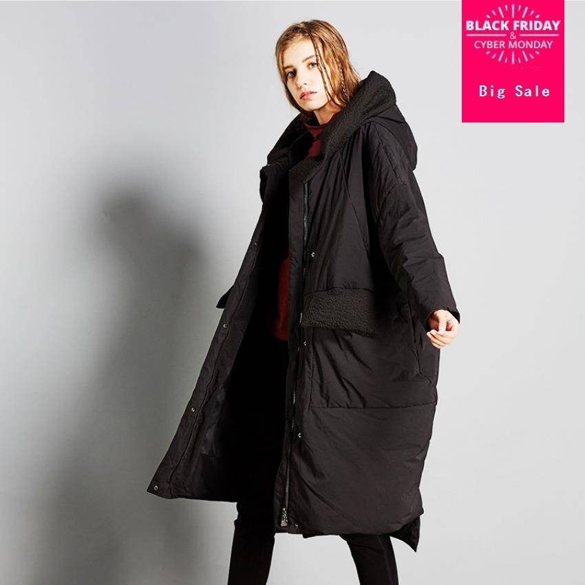 High Quality Winter New Collection loose style Hooded Long   Down     Coat   Female Winter Warm Thick   Down   Jacket wq647 factory outlet