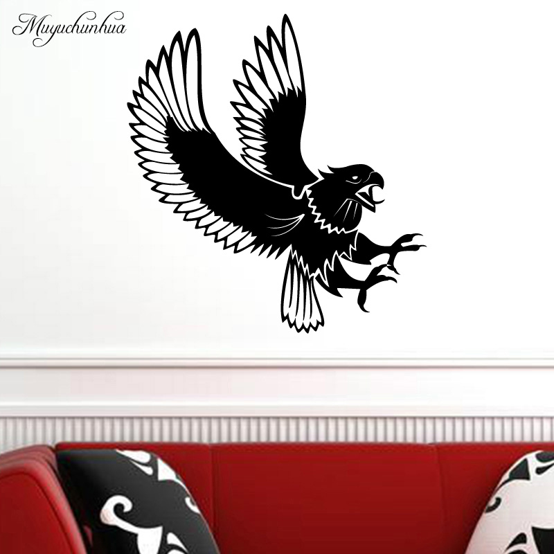 Muyuchunhua Aggressive Bird Wall Paper Home Decoration Accessories Removable Living Room Wall Art Wall Stickers Waterproof