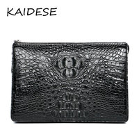 KAIDESE British And American Universal Leather Envelope Package 2017 New Fashion Leisure Crocodile Hand Bag