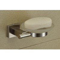 Hot Sale Wholesale And Retail Promotion Brushed Nickel Soap Holder Bathroom Accessories Wall Mounted Square Soap