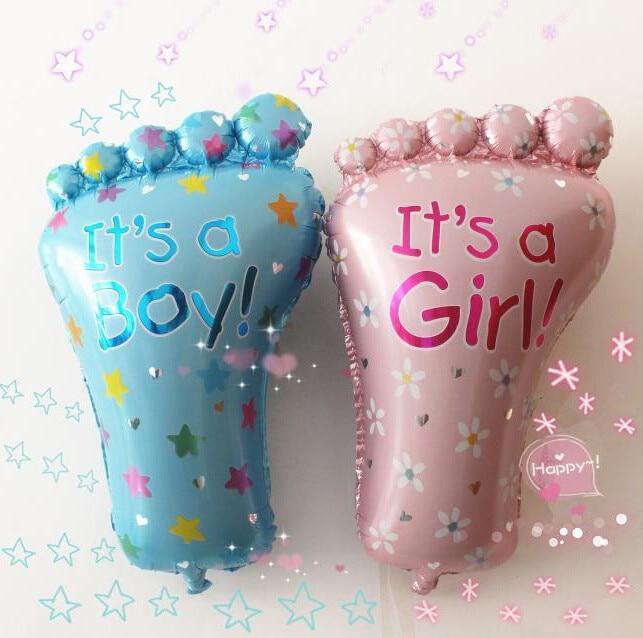 4 PCS or Unisex Girls Foil Helium Balloon Baby Shower Christening Birthday Party