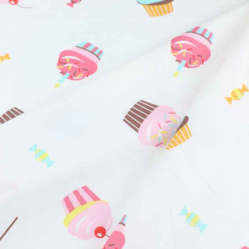 160 см * 50 см обувь из хлопка, с мультяшками ткань розовый фруктовый мороженое комплект кровати «сделай сам» Одежда Платье Лоскутная Ткань Детская тряпка для домашней работы