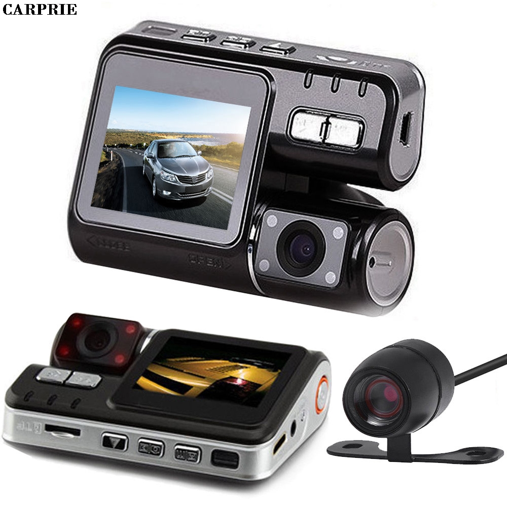 CARPRIE HD DVR 170 Car Dash Cam Recorder 1080p LED Night Vision G-sensor+Rear Camera Hdm ...