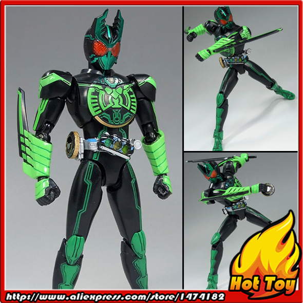 100% Original BANDAI Tamashii Nations S.H.Figuarts (SHF) Action Figure - GATAKIRIBA Combo from Kamen Rider OOO business men tie shallow mouth brown leather casual rivet shoes men s shoes round youth non slip rubber sole