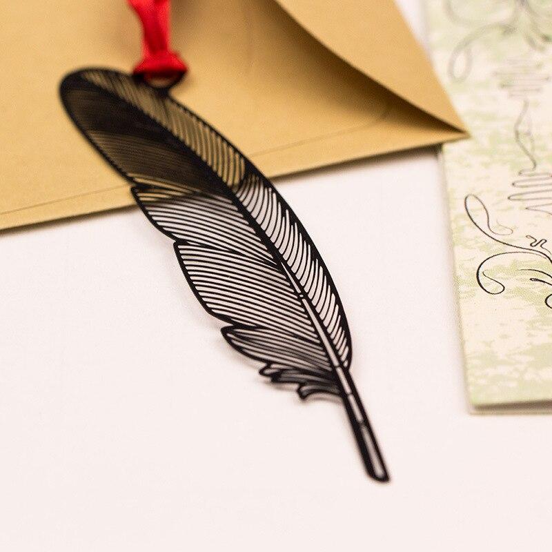 Купить с кэшбэком 5 pcs Vintage Black metal bookmarks Leaf Flower Butterfly bookmarks Beautiful gifts Classical Stationery  School supplies FC521