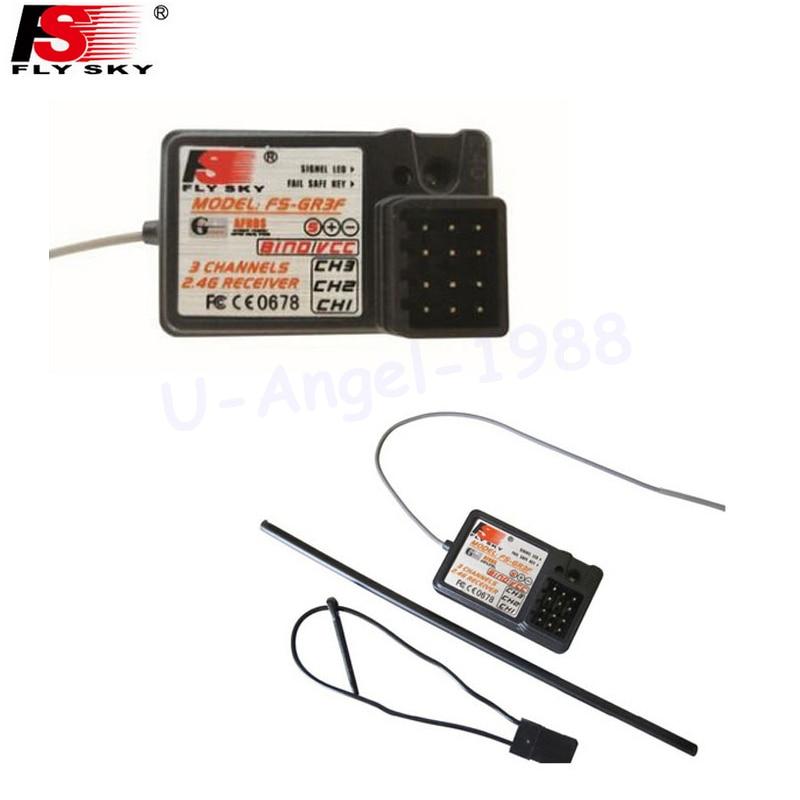 1 unids flysky FS-GR3F FS-GR3E 3CH 2.4 GHz RC FS GT3B GT2 GT3C GT2B T6 TH9X I10 con a prueba de fallos