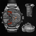 New Fabulous Men's Fashion Luxury Watch Stainless Steel Sport Analog Quartz Mens Wristwa erkek kol saat relogioi wholesale No21