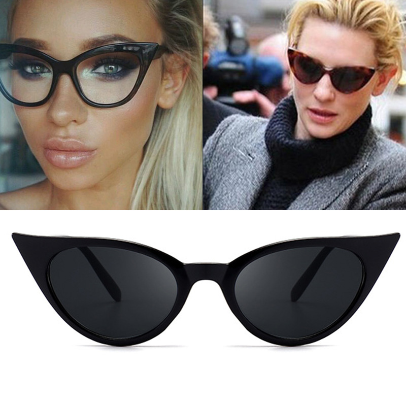 RFOLVE Fashion Cat Eye Sunglasses Women Black Leopard Frame Women Sunglassses 2018 Small ...
