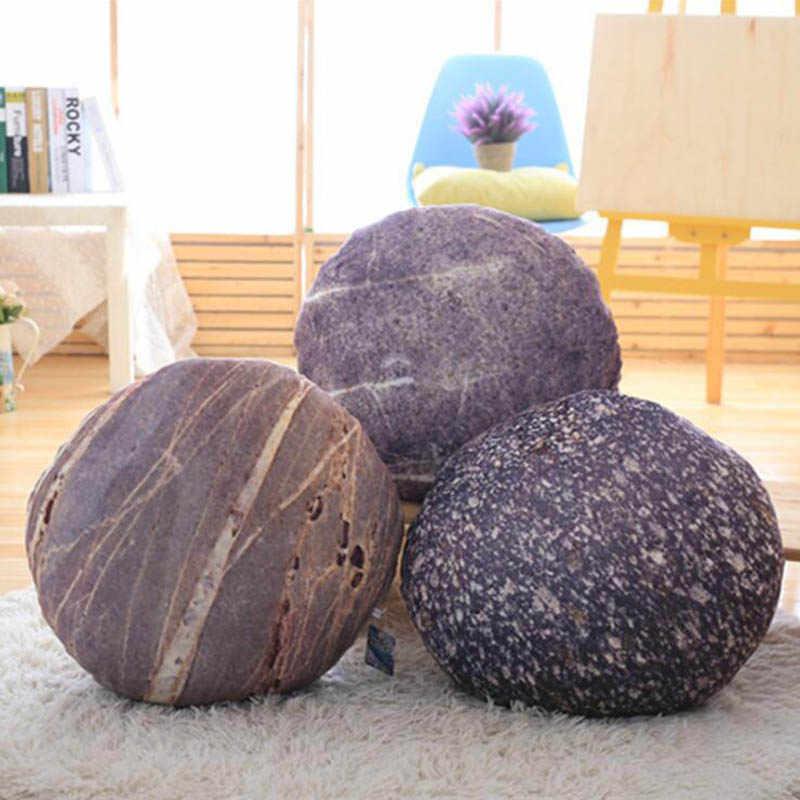 Almohada para el sofá decorativa de piedra, cojín para el asiento trasero, decoración para la habitación de los niños, juguete de peluche para decoración de bodas