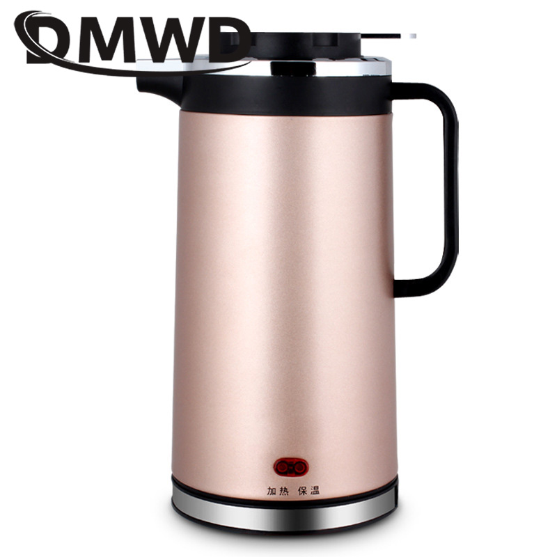все цены на DMWD 2L Split Stainless Steel Thermal Electric Kettle Auto-off Boiling Teapot Hot Water Quick Heating Tea Pot Boiler EU US plug онлайн