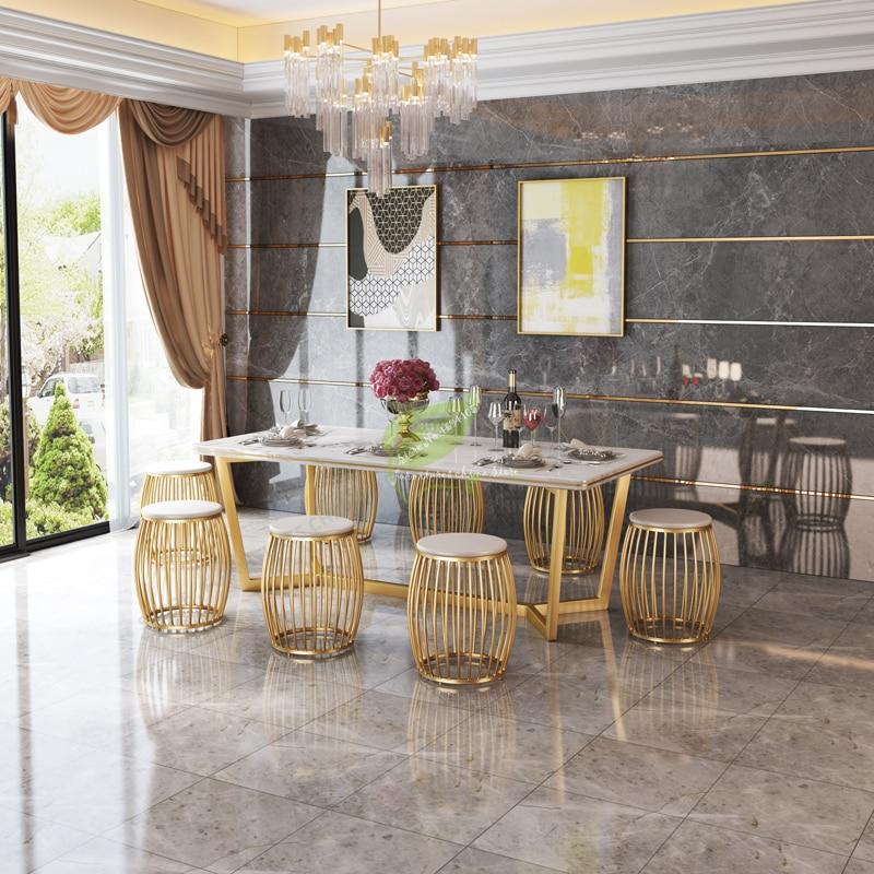 Modern Bar Stool Iron Bar Chair Bar Furniture Bar Stool Seat Beauty Salon Furniture Make Up Chair Nordic Iron Art Gold Creative