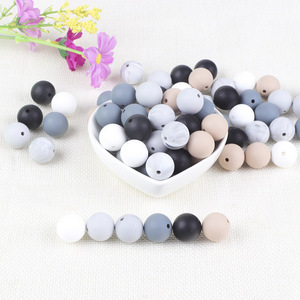 Image 4 - BOBO.BOX 15mm 100pcs Silicone Beads Food Grade Silicone Baby Teething For Necklace Chews Pacifier Chain Clip Beads Soft Silicone