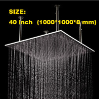 40 Inch Large Size 304 Stainless Steel Material Surface Brushed Ceiling Mounted Big Rain Shower Head