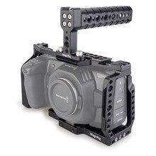 MAGICRIG BMPCC 4K Kafes için Üst Kolu ile Blackmagic Cep Sineması Kamera BMPCC 4 K/BMPCC 6K monte etmek için Mikrofon Monitör Flaş