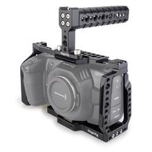 MAGICRIG BMPCC klatka 4K z górnym uchwytem do kamery kieszonkowej Blackmagic BMPCC 4 K/BMPCC 6K do montażu mikrofonu Monitor Flash