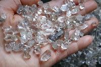 247g King of Herkimer Diamond Crystal Quartz Points Specimen