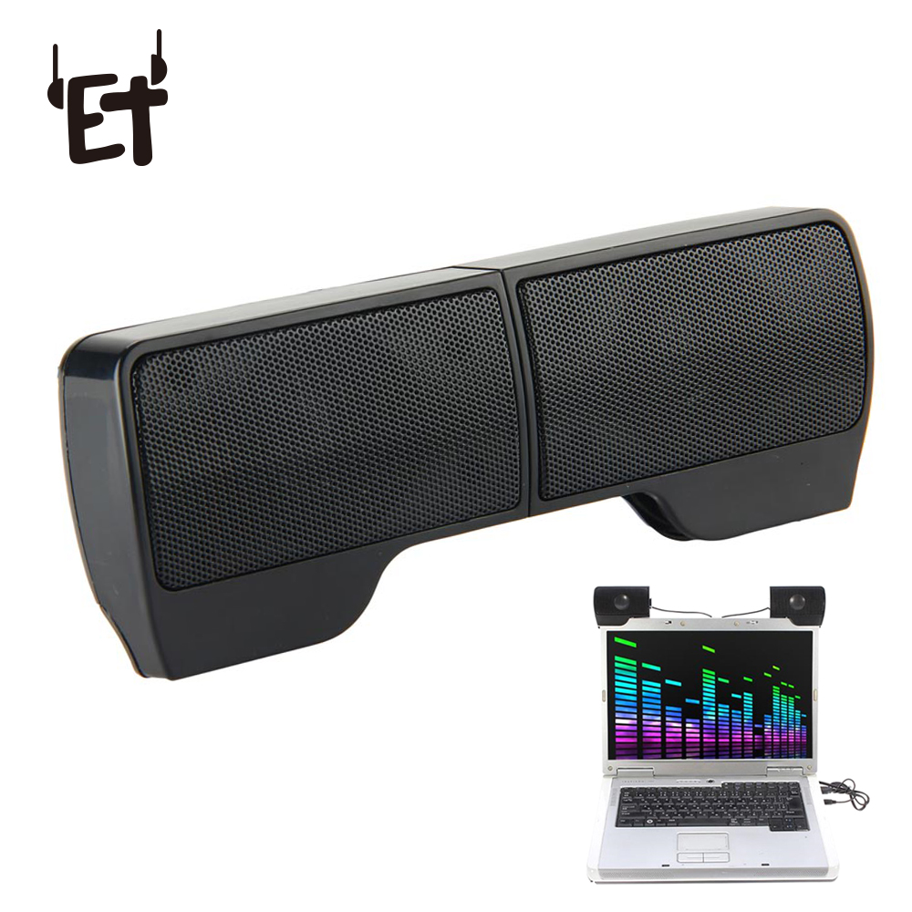 Vapeonly USB Stereo Mini Speaker Portable Clip-on Line Controller Soundbar for Notebook PC Laptop Phone MP3 Music Player Speaker