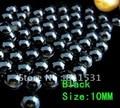 Free shipment!!10MM Acrylic/Plastic Imitation Half Pearl Round Flatback Beads 2000PCS Black Color  for DIY Nail Jewelry!!