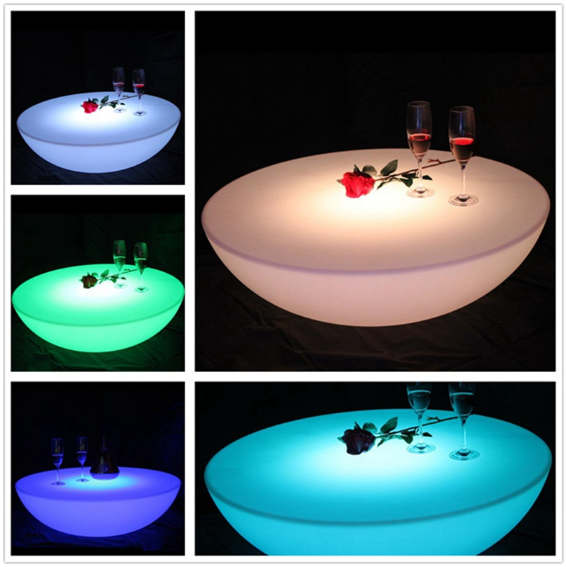 SK-LF17 (D60*H20cm) Skybesstech LED Bar Table Rechargeable Waterproof IP68 LED Bar Furniture Round Table Free Shipping 1pc
