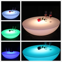 SK LF17 (D60*H20cm) Skybesstech LED Bar Table Rechargeable Waterproof IP68 LED Bar Furniture Round Table Free Shipping 1pc