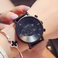 GIMTO Sport Mens Watches Top Brand Luxury Black Steel Watch Men Waterproof Quartz Wristwatches Business Clock
