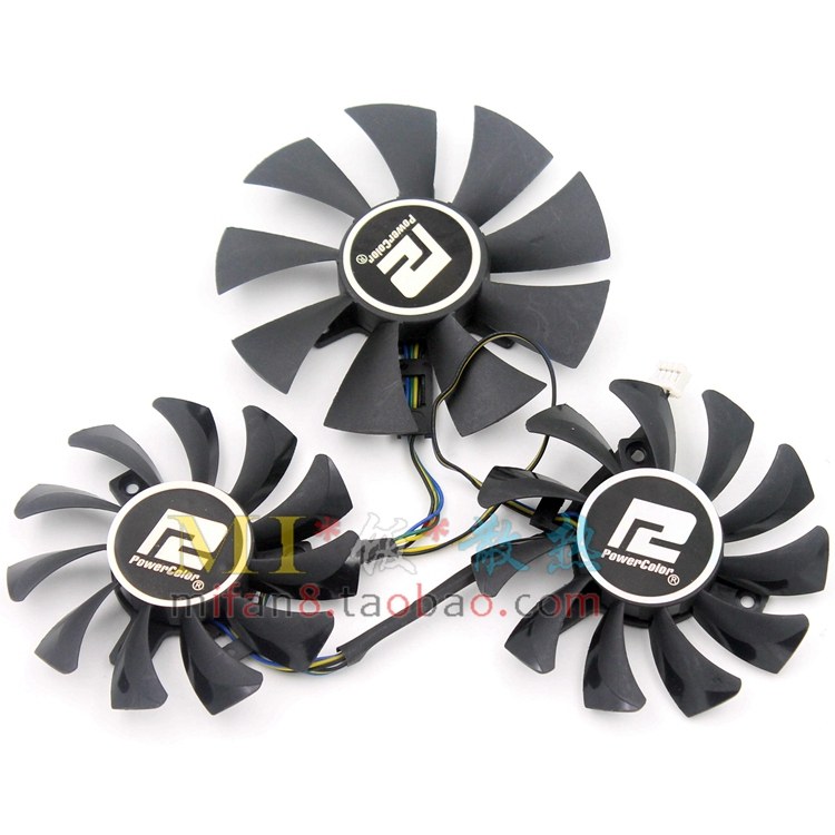 Free shiiping 3pcs/lot DEVIL GA81O2U GA91O2H R9 270x R9 370x graphics card fan free shiiping 3pcs lot dataland r9 290 290x pla08015d12hh ball and roller graphics card fan