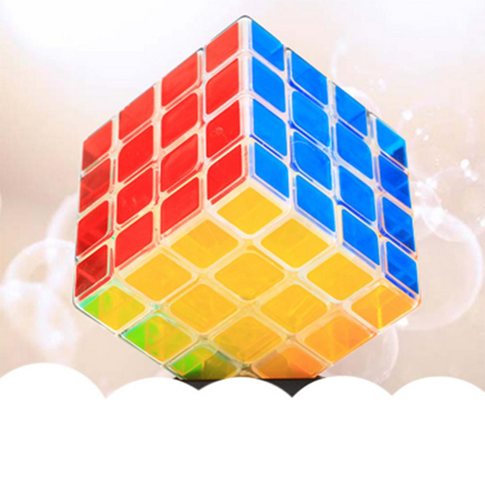 2019 New Arrivals ZCUBE Transparent 4x4x4 Magic Cube Brain Teaser Speed Cube Puzzle Toy