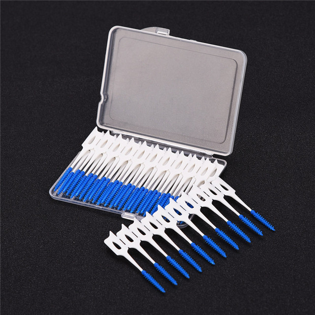40PCS/box Adults Interdental Brush Clean Between Teeth Floss Brushes Toothpick Oral Care Tool Dental Hygiene Tooth Cleaning PJ