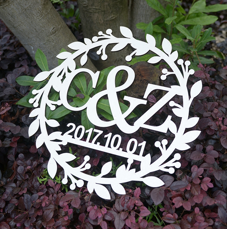 Personalized Wedding Sign Black Acrylic Custom Bride and Grom Name and Wedding Date Wedding Decoration Supplies 40cm