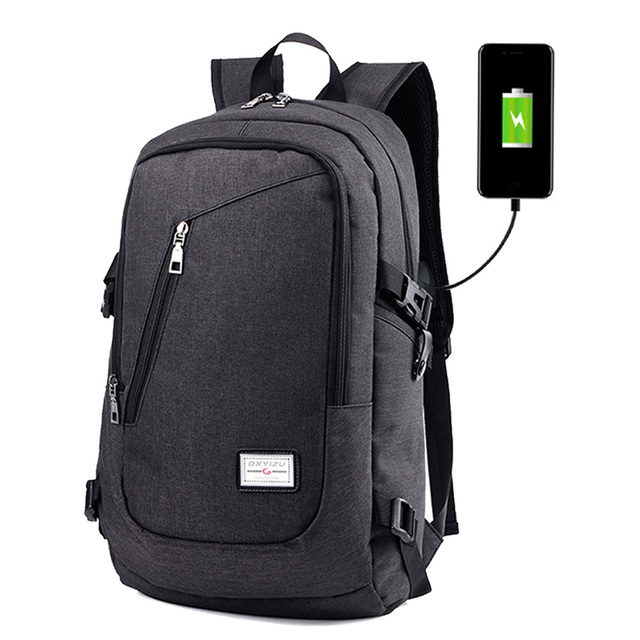 Besegad USB Charge Charging Anti Theft Men Women Travel Laptop Backpack Mochila Pouch School Bag 15 Inch Accessories