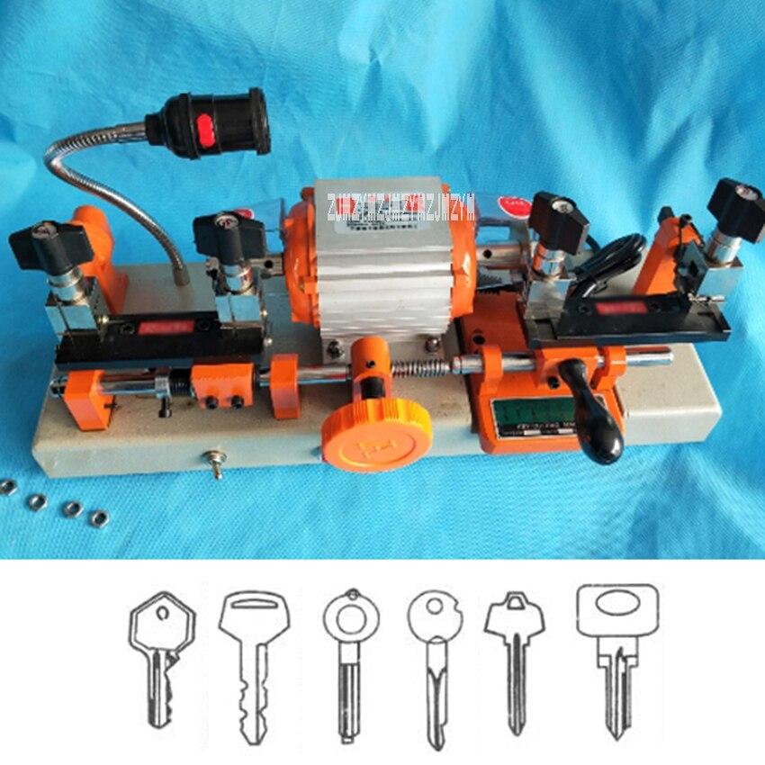 220 V 120 W Double tête clé Machine de découpe pour copie voiture porte serrure clés duplication clé copie faisant la Machine serrurier outils