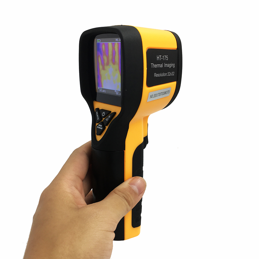 Rechargeable Battery Powered Infrared Thermal Imager with Color Display Screen 6