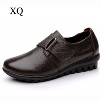 Plus Size 35 To 42 43 Women Flat Shoes Soft Genuine Leather Mother Shoes Comfort Casual