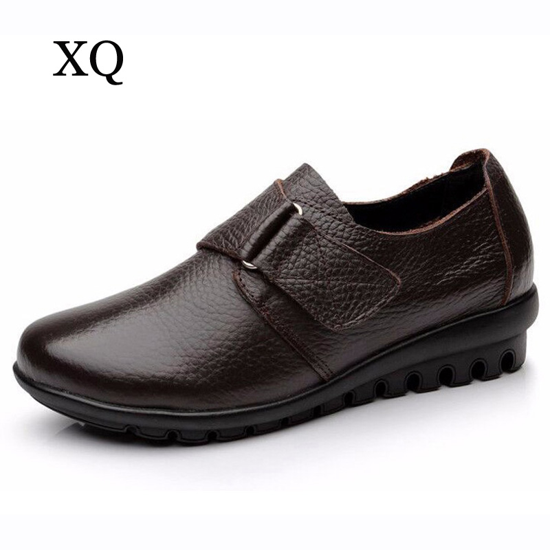 Women Flats Soft Genuine Leather Shoes Women loafers Comfortable Casual shoes Moccasins Size 35 - 43 top brand high quality genuine leather casual men shoes cow suede comfortable loafers soft breathable shoes men flats warm